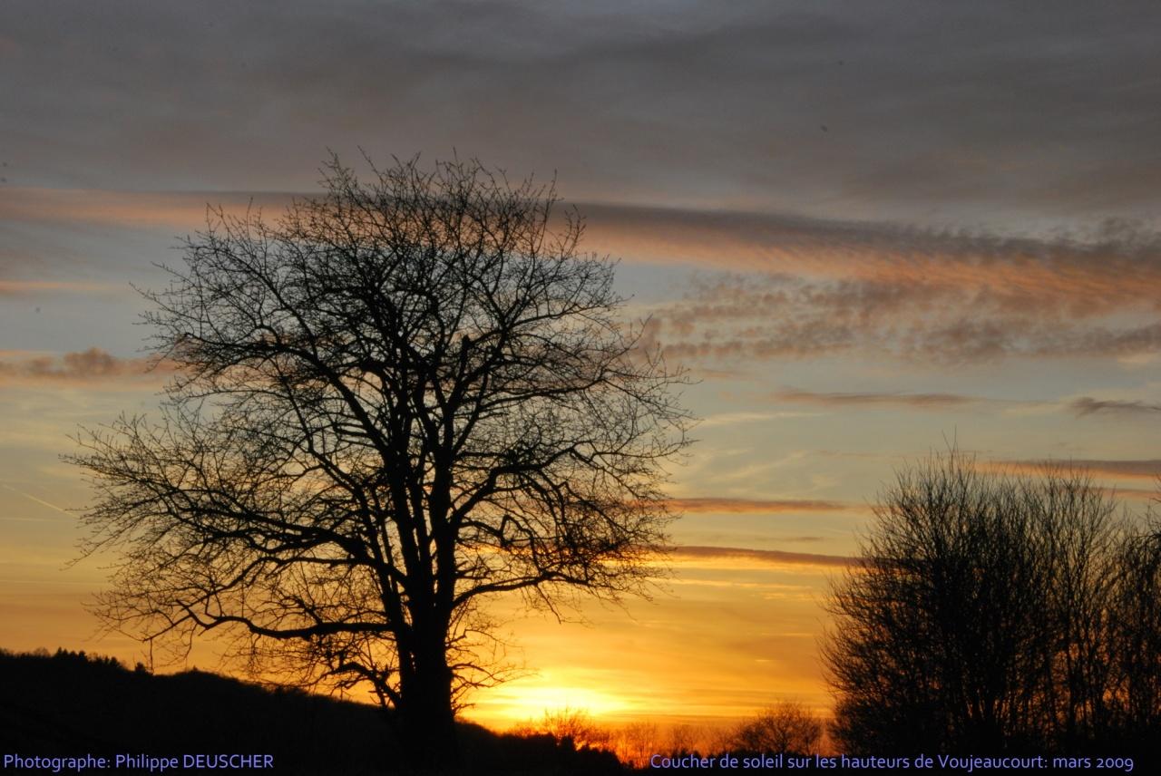 Coucher de soleil à Voujeaucourt - Doubs - Mars 2009