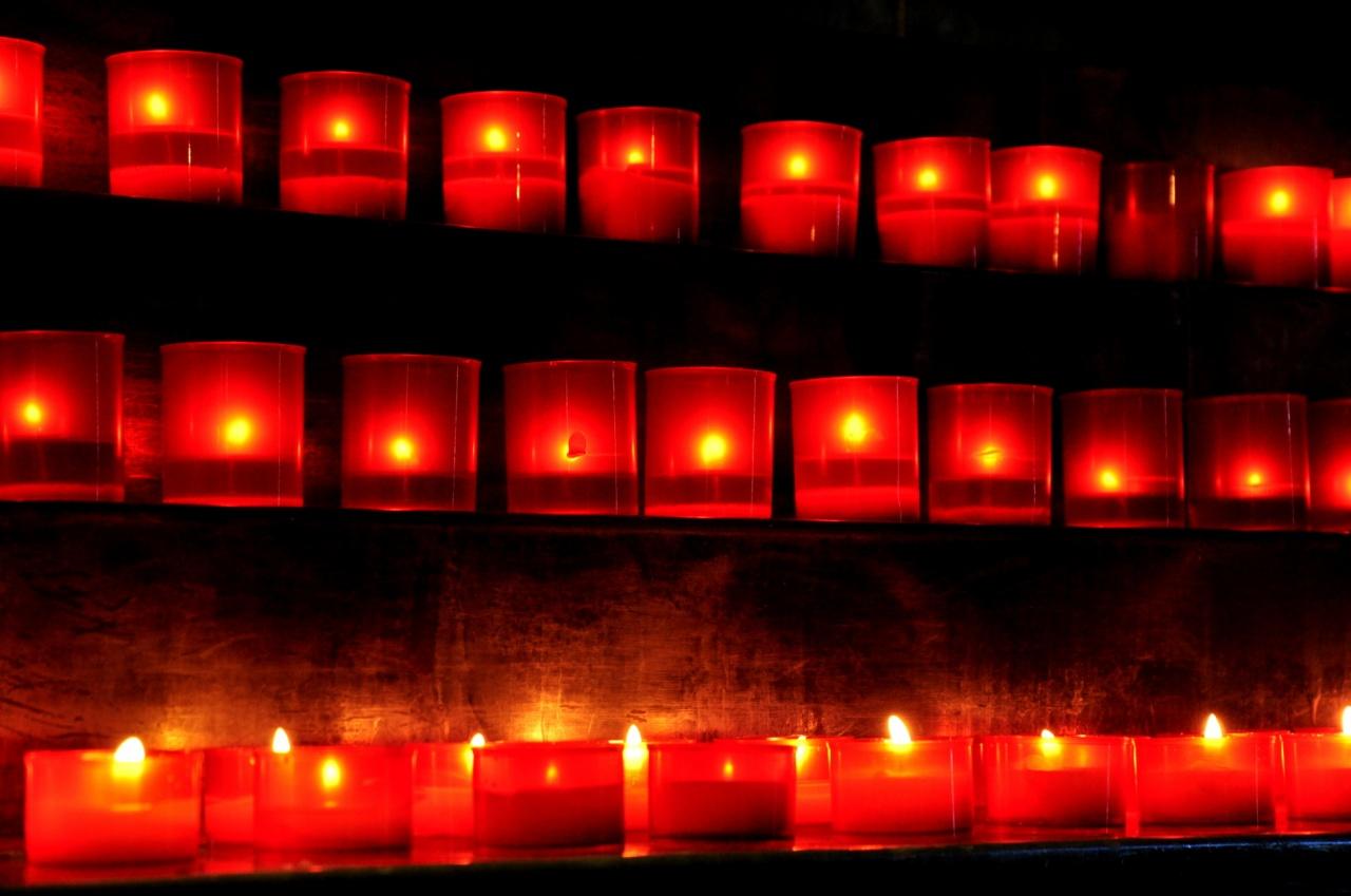 Bougies au Sanctuaire de Notre Dame de La Salette - Isère - Août 2011