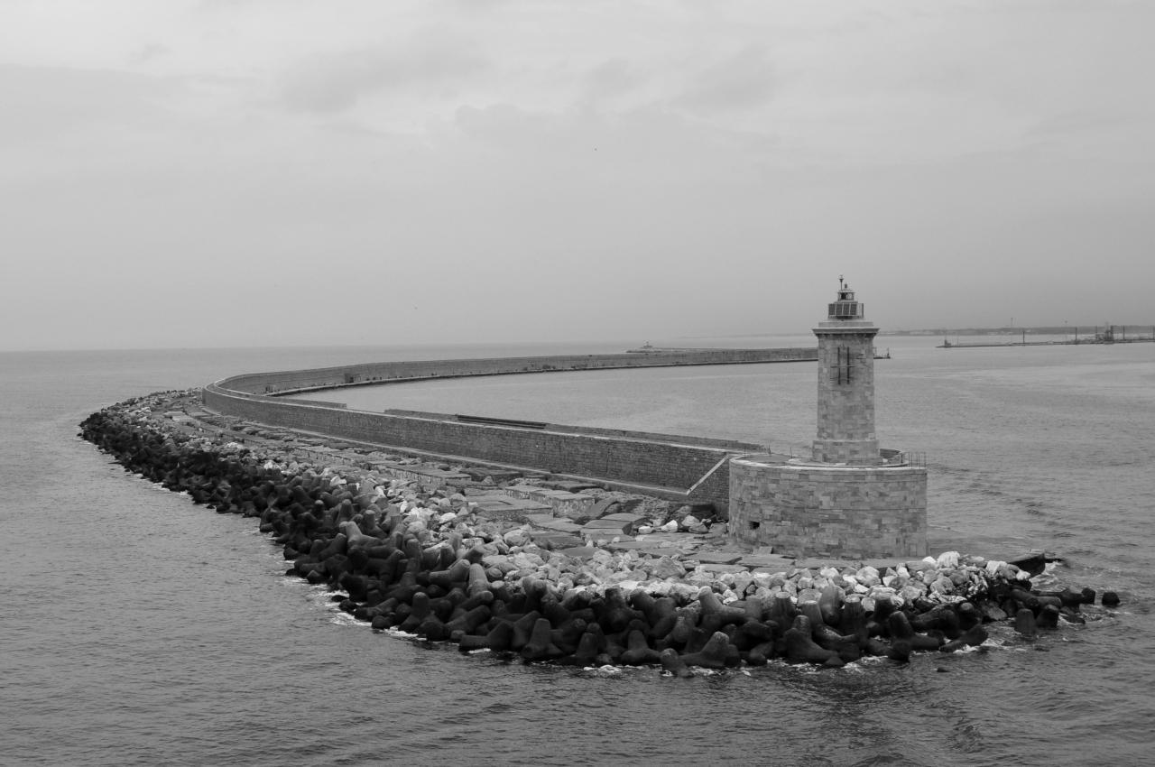 Jetée du port de Livourne - Toscane - Italie - Juillet 2013