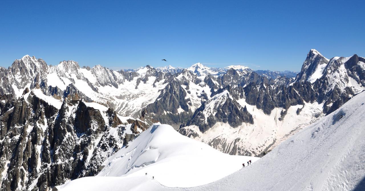 Panorama à l'aiguille du midi - Haute-Savoie - Juillet 2016