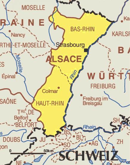 Alsace carte d alsace bas rhin strasbourg haut rhin colmar alsace france europe 1
