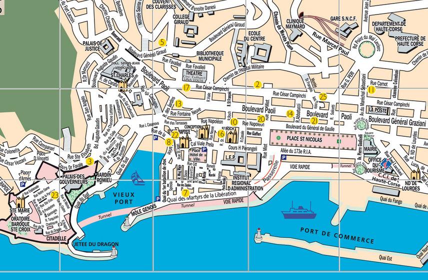Plan de bastia voyages cartes - Office du tourisme bastia haute corse ...