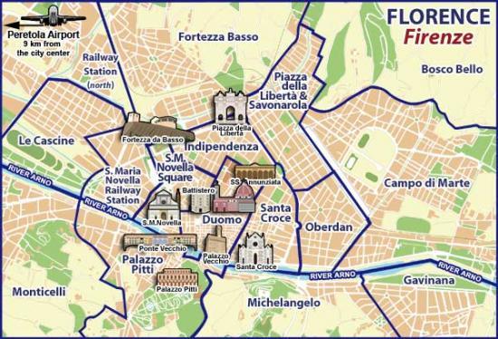 Carte quartiers Florence