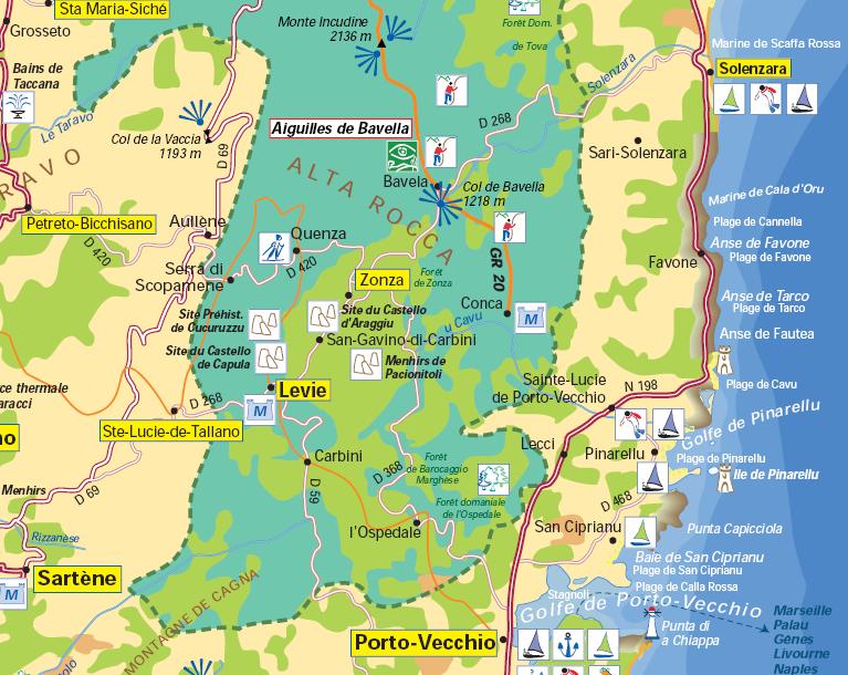 Carte de l'Alta Rocca