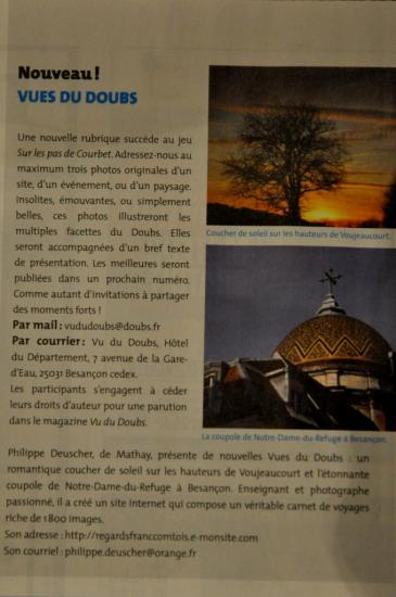 Article du Vu du Doubs n°198 - Mai 2012