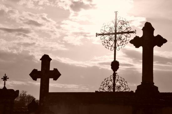 Cimetière de l'église de Siran - Gironde - Avril 2013