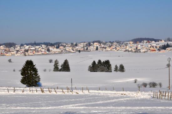 Vue du village de Charquemont - Doubs - Février 2013