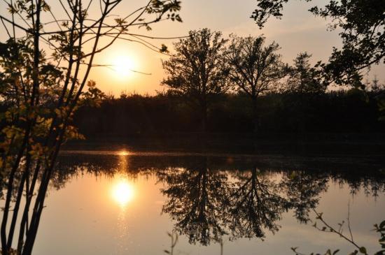 Coucher de soleil en Haute Saône - Juillet 2011