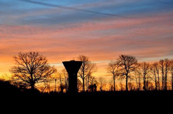 Lever de soleil sur les lacs de Haute Charente - Février 2012