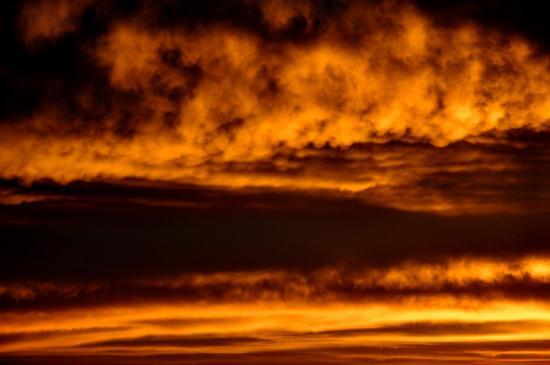 Ciel au lever du soleil à Bouteville - Charente - Octobre 2013