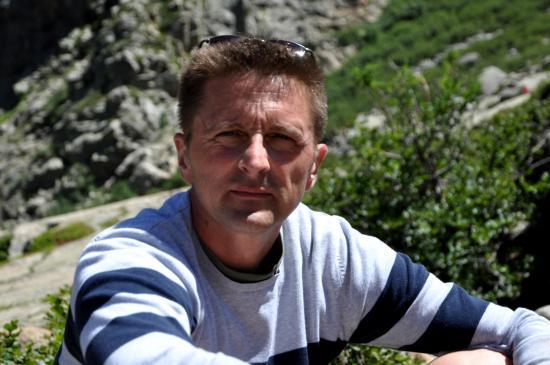 Philippe au bord du lac de Mélo - Haute Corse - Août 2013