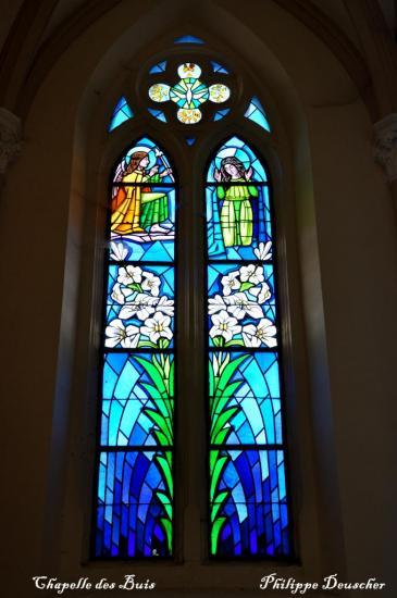 Vitrail à Chapelle des Buis - Besançon - Doubs - Avril 2010