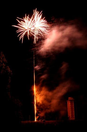 Feux d'artifice à Châteauneuf - Charente - Juillet 2012