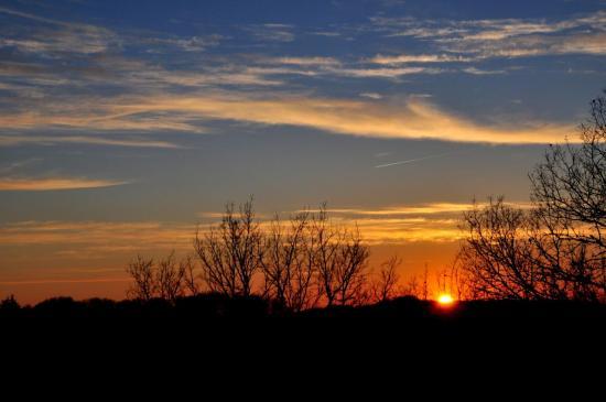 Coucher de soleil au Buisson de Cadouin - Dordogne - Mars 2011