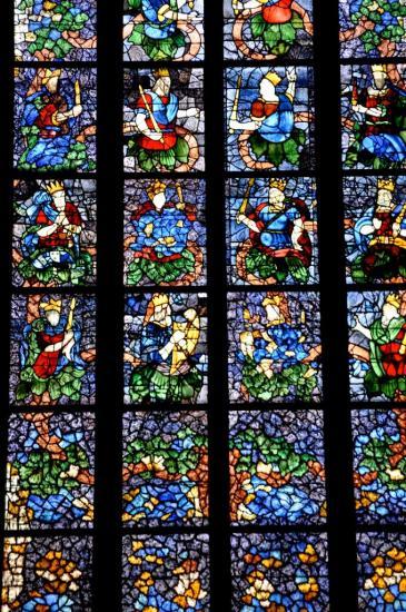 Vitrail à l'église Saint André de Niort - Deux-Sèvres - Octobre 2013