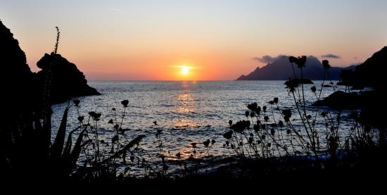 Coucher de soleil sur la plage de Porto - Corse du sud - Août 2014