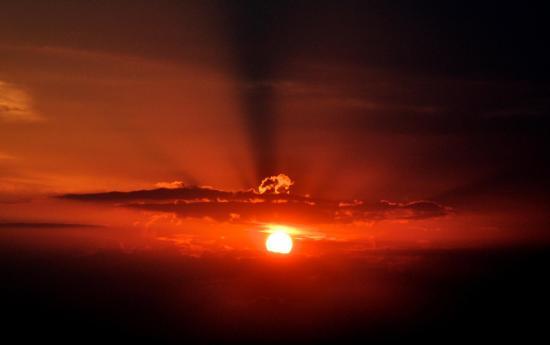 Coucher de soleil sur le lac de Sainte Croix - Var - Juillet 2015