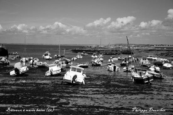 Bateaux à marée basse - Morbihan - Juillet 2009