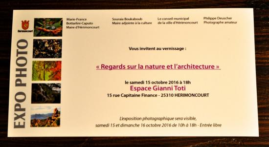 Vernissage expo photo d'hérimoncourt