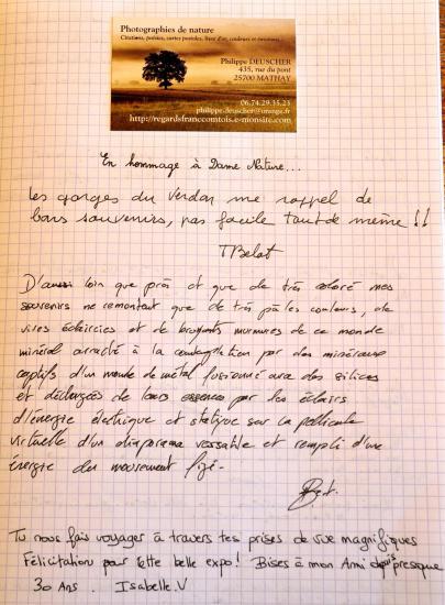 Livre d'or - Expo photos Hérimoncourt