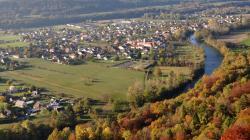 Mathay vu du belvédère de Mandeure - Doubs - Octobre 2016