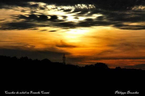 Coucher de soleil près de Belfort - Octobre 2009