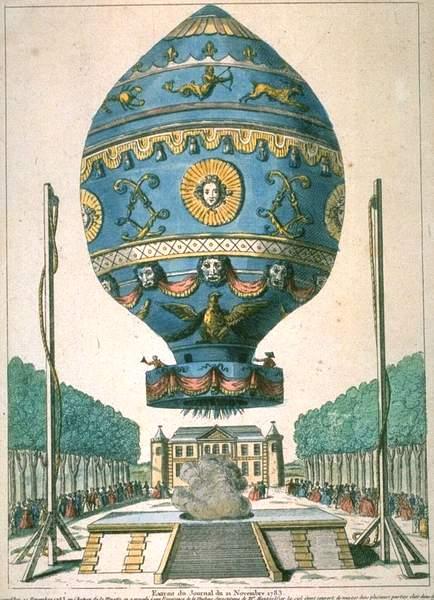Premier vol habité en montgolfière le 21 novembre 1783