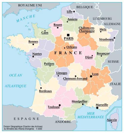 Situation de la ville de Strasbourg sur la carte de France