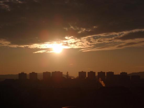 Ciel au coucher du soleil à Belfort - Février 2009