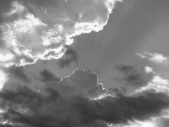Ciel de traîne à Ornans - Doubs - Juillet 2009