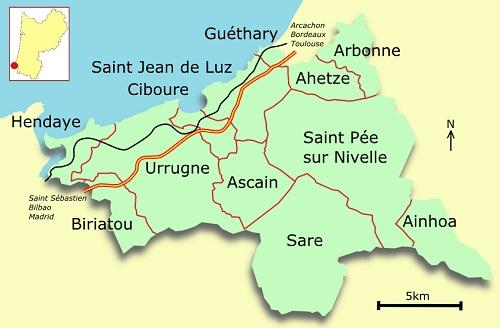 Pays basque carte du pays basque france europe