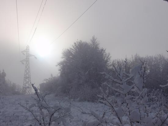 Lever de soleil aux Roches à Pont-De-Roide - Doubs - Décembre 2008