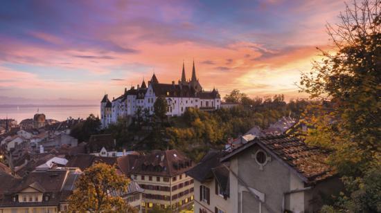 Ville de Neuchâtel - Suisse romande - Mai 2015